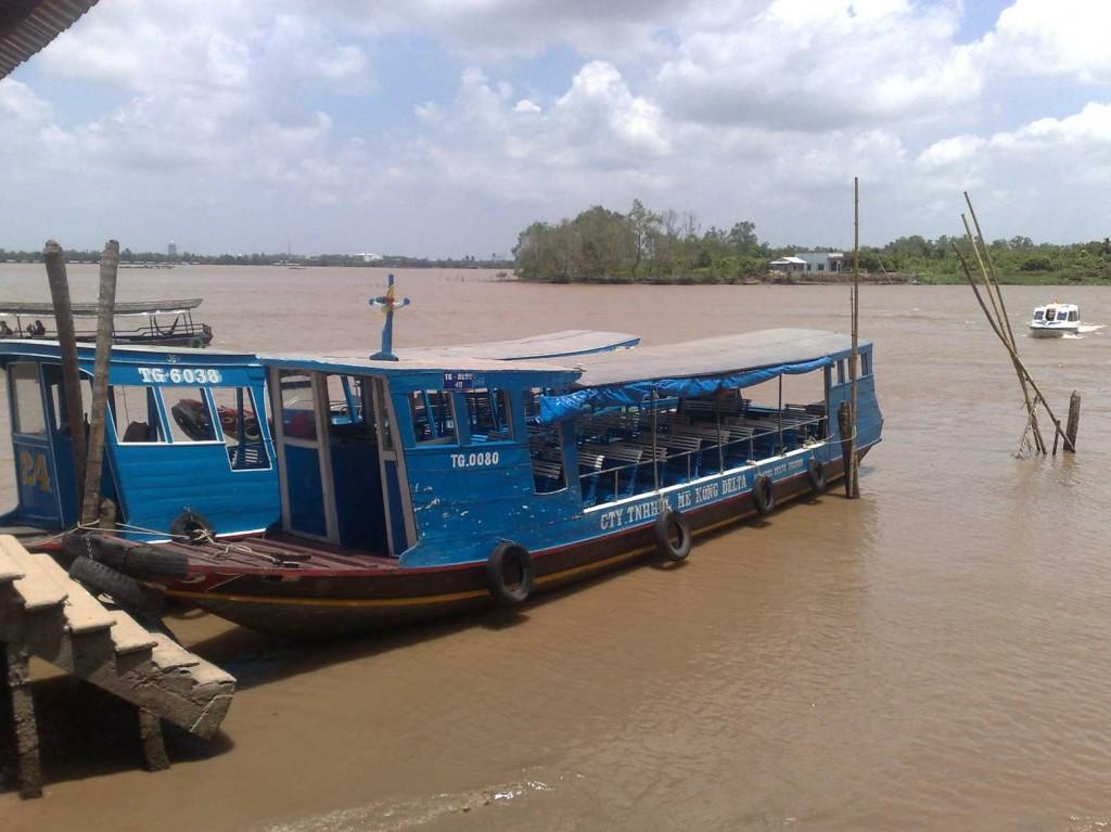 bateau pour excursion delta mekong