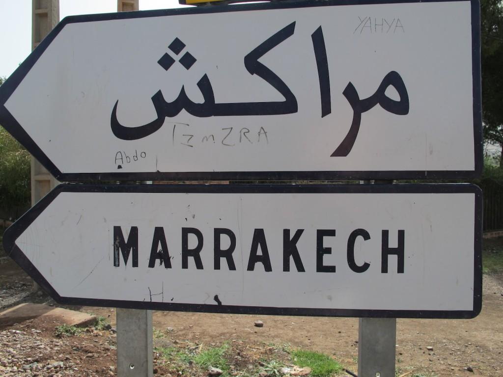 pancarte de la vie a marrakech