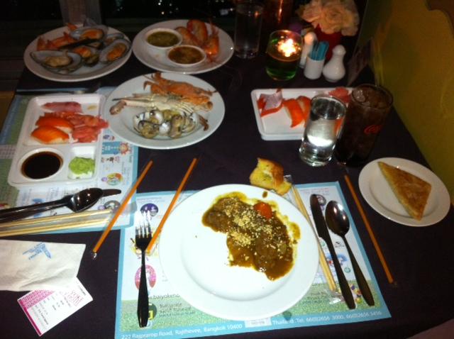 buffet du restaurant de baiyoke
