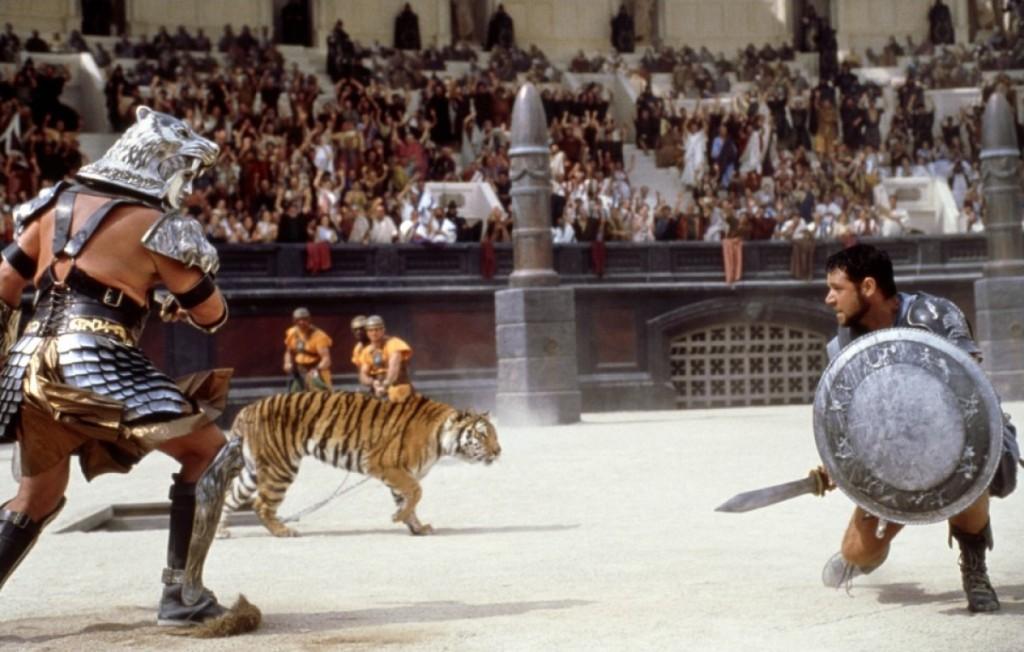 jeux entre gladiateur dans la rome antique